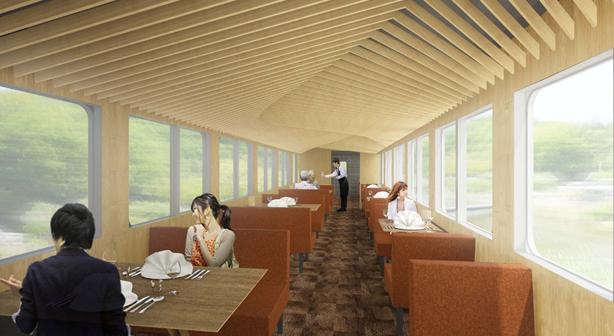 Seibu Railway train gastronomique « 52 sièges de bonheur » (article by amuzen)