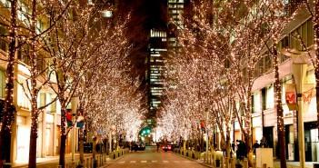 Illumination de Marunouchi 2016 dans des tons or « champagne » (article d'amuzen)
