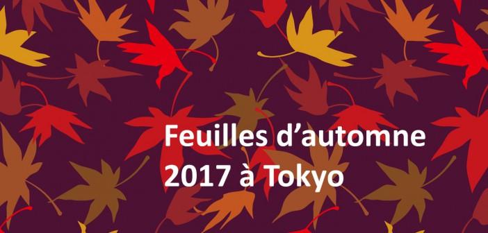 Sites et évènements des feuilles d'automne 2017 à Tokyo (guide de Tokyo amuzen)